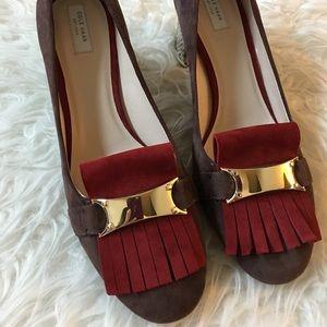 NWOT Cole Haan leather tassel heels pump size 7.5